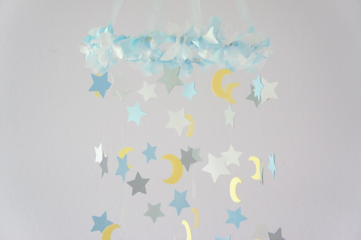 moon stars nursery mobile nursery decor baby shower decor baby